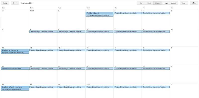 Sept Blog Plan